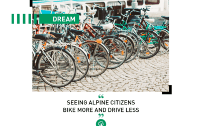 Dream: seeing Alpine citizens bike more and drive less