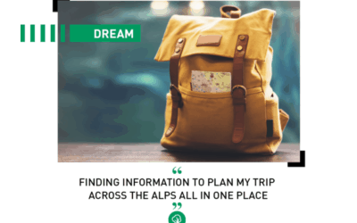 Dream: Finding information to plan my trip across the Alps all in one place!